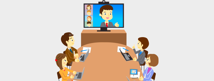 Video conference in sales